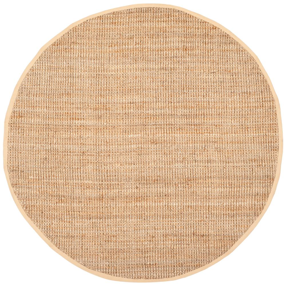 Safavieh Natural Fiber Beige 9 Ft X 9 Ft Round Area Rug