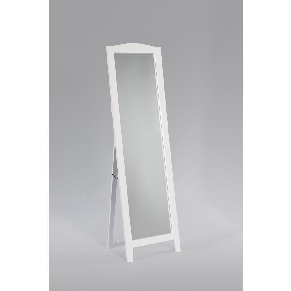 Kings Brand Furniture White Wood Frame Easel Dressing Floor Mirror ...
