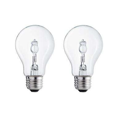 100-Watt Equivalent A19 Halogen Light Bulb (2-Pack)