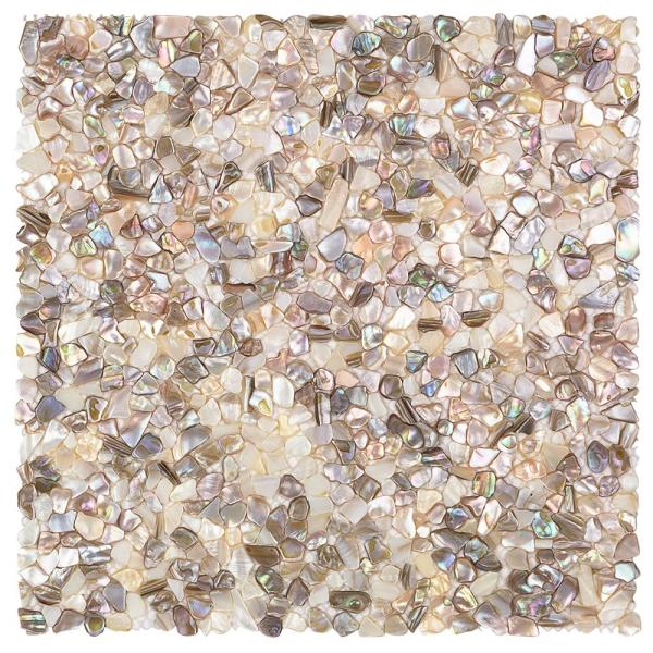 Baroque Pebbles 11.81 in. x 11.81 in. Pearl Shell Mosaic Tile