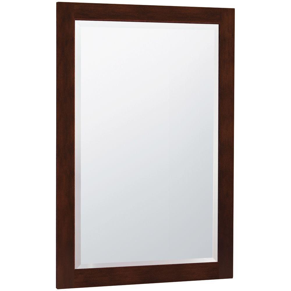 MasterBath 32 in. L x 20 in. W Wall Mirror in Java