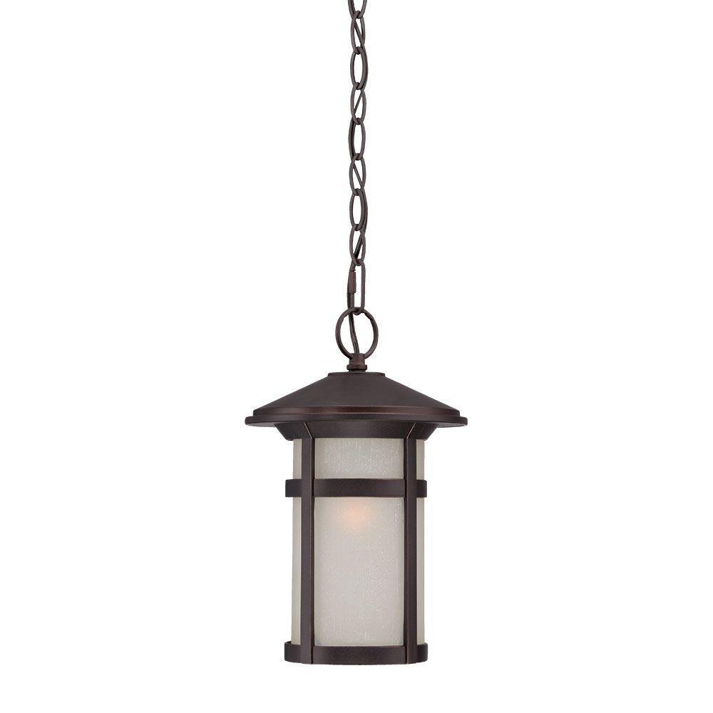 Phoenix 1-Light Architectural Bronze Outdoor Hanging Lantern