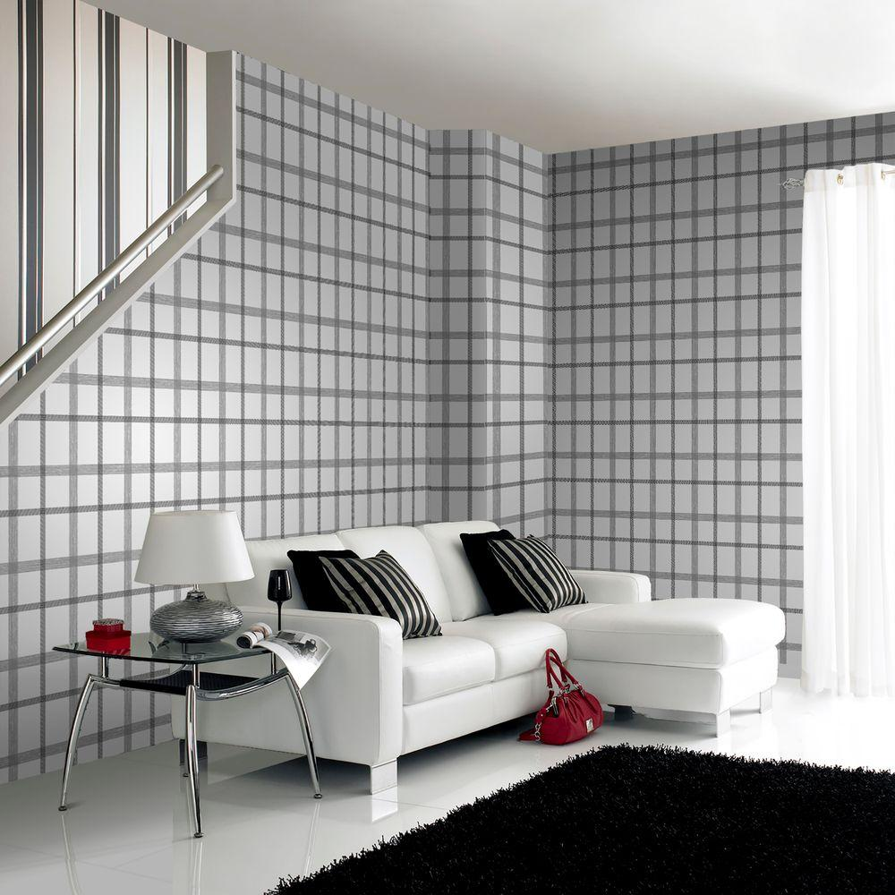 Graham & Brown Plaid Wallpaper