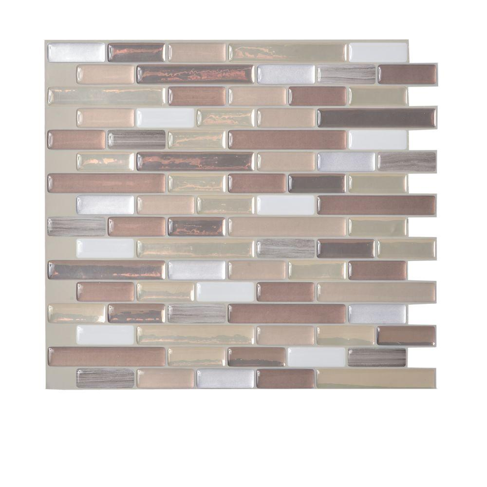 Smart Tiles Muretto Durango 10.20 In. W X 9.10 In. H Peel