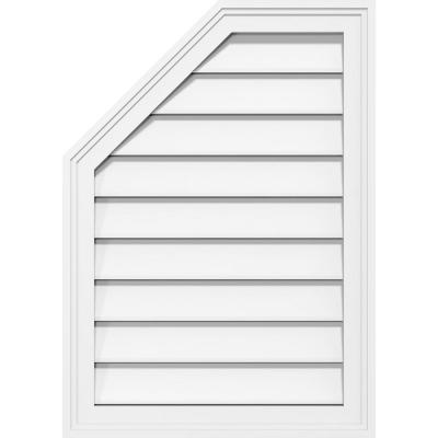 Ekena Millwork 24 In X 30 In Octagonal Surface Mount Pvc Gable Vent Functional With Brickmould Frame Gvpol24x3002sf The Home Depot