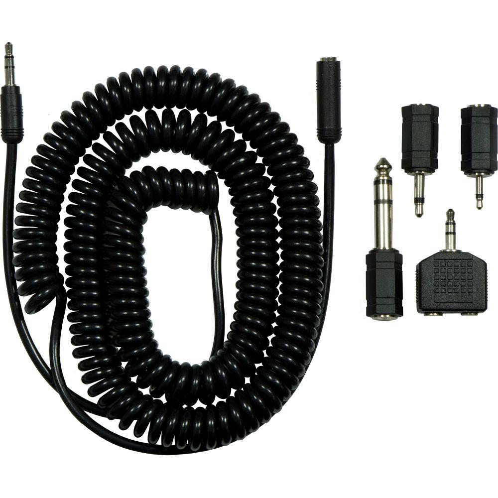GE Headphone Extension Cable with Assorted Connector Plugs