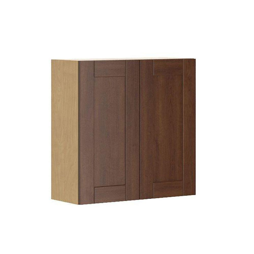 Ordinaire Ready To Assemble 30x30x12.5 In. Lyon Wall Cabinet In Map.