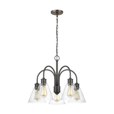 Elsa 5-Light Heirloom Bronze Chandelier