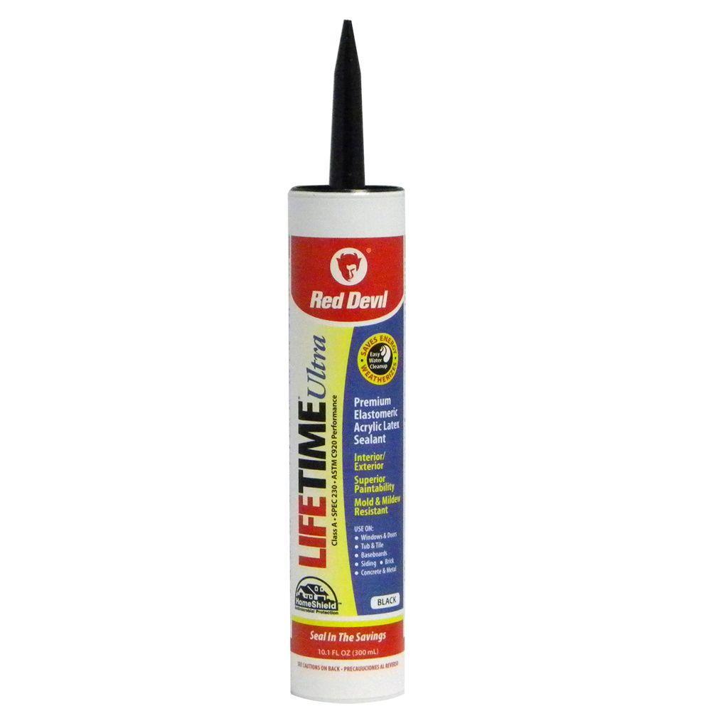 Lifetime Ultra 10.1 oz. Black Acrylic Latex Caulk