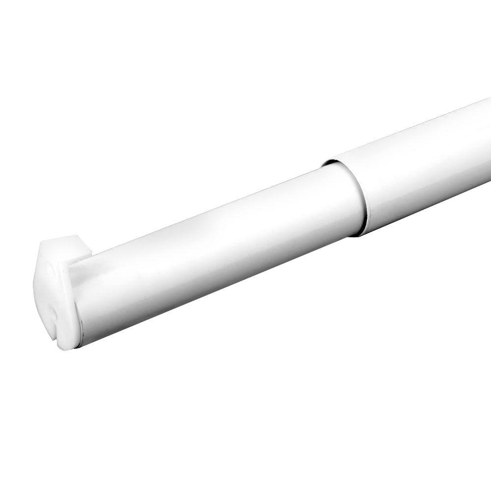 White Adjustable Closet Rod