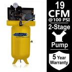 Industrial Series 80 Gal. 5 HP 1-Phase Electric Air Compressor with pressure lubricated pump