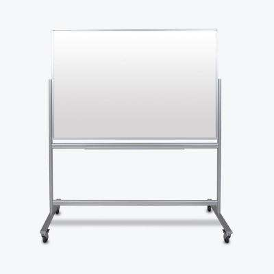 Mobile Magnetic Double Sided 60 in. x 40 in. Glass Board