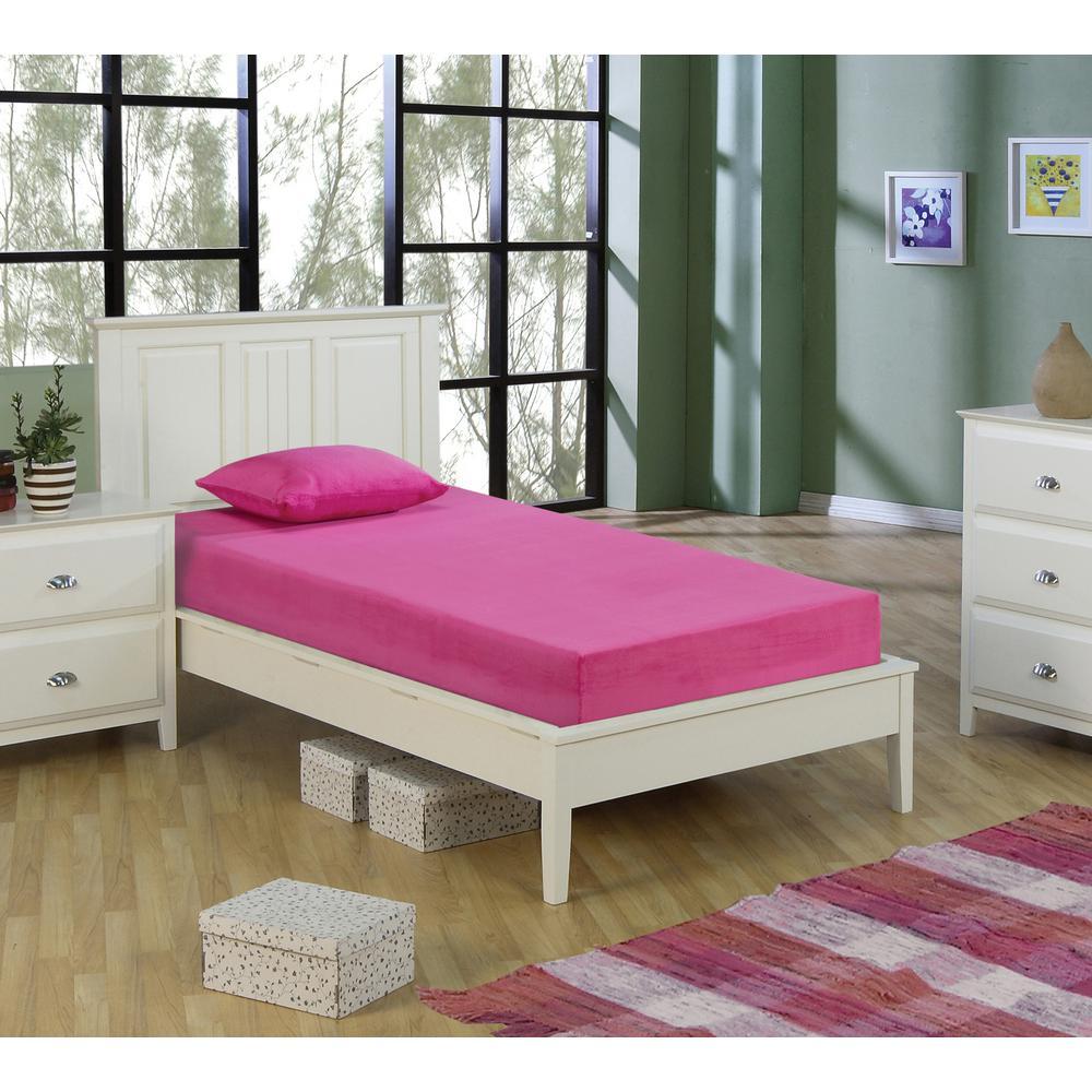 new arrival 7f8c8 acd4d Kids Pink 5 in. Twin-Size Memory Foam Mattress with Comfort Foam