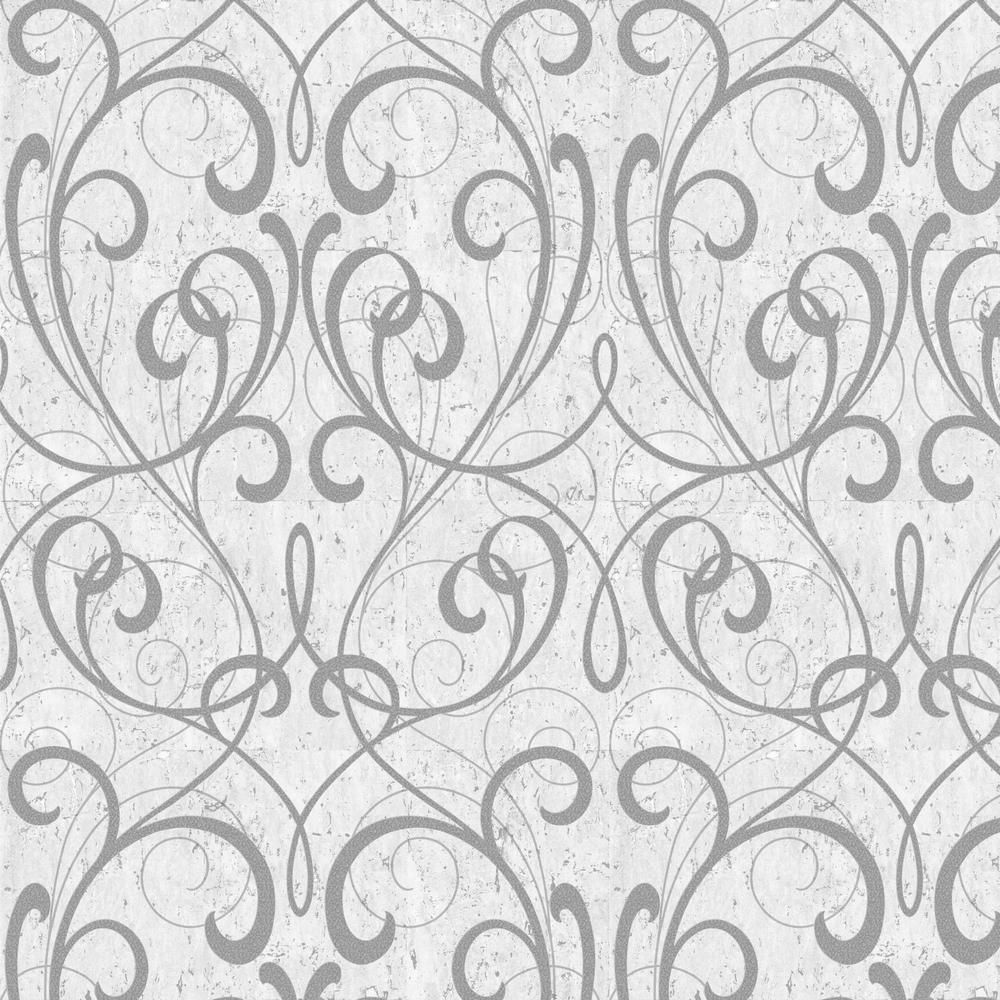 graham brown kyoto cork damask light gray silver. Black Bedroom Furniture Sets. Home Design Ideas