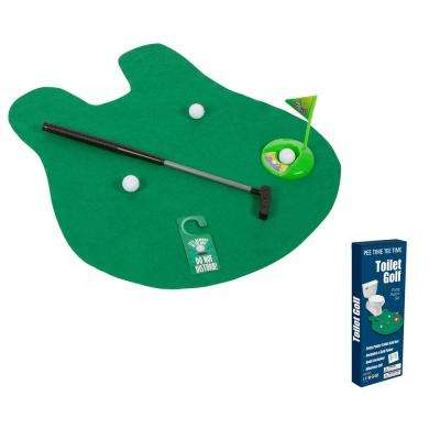Toilet Golf Joke and Novelty Set - Play Golf on the Toilet