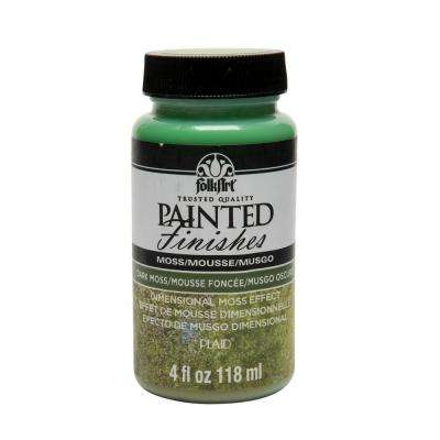 4 oz. Dark Green Faux Moss Painted Finish
