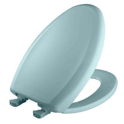 Slow Close STA-TITE Elongated Closed Front Toilet Seat in Blue