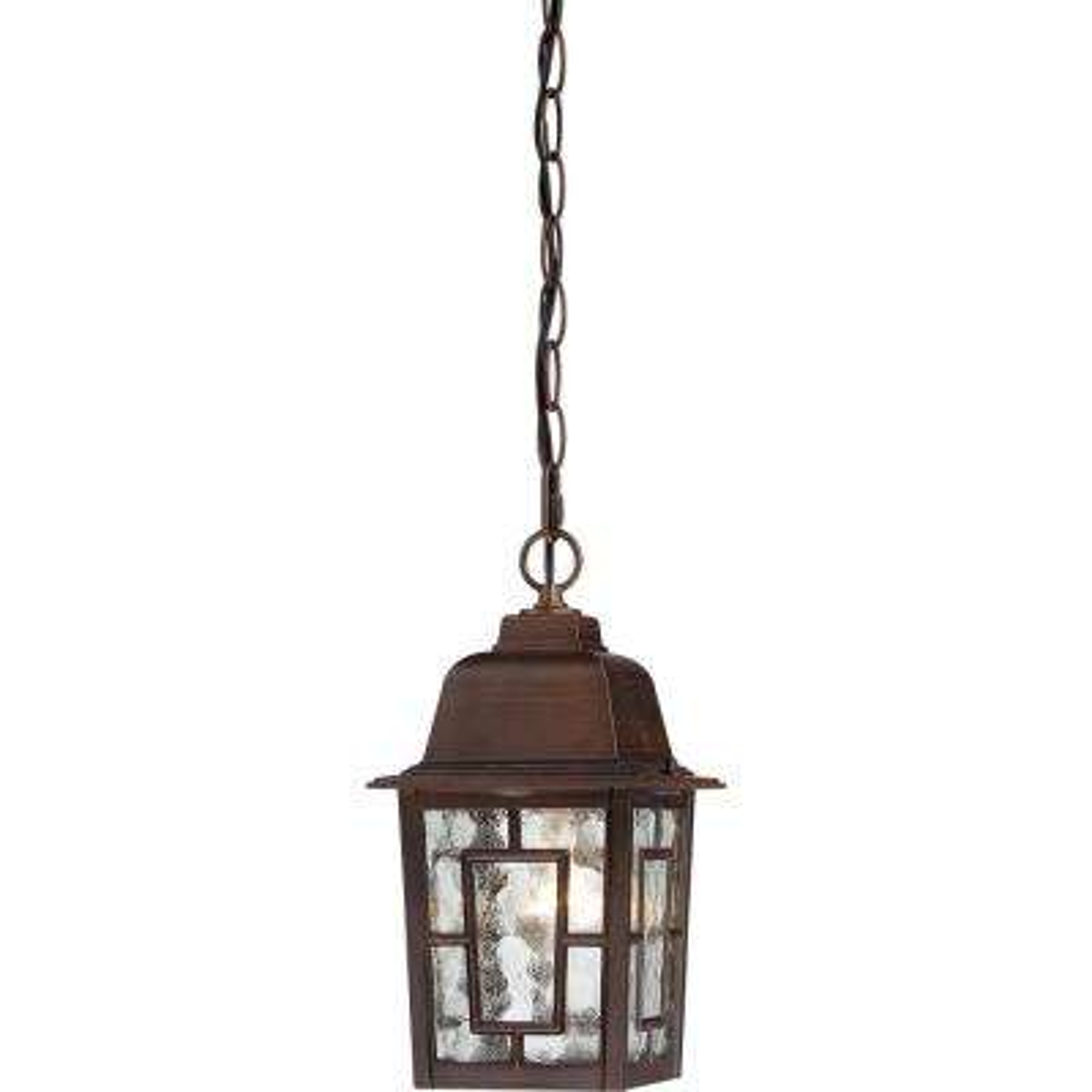 Steve Rustic Bronze 1-Light Outdoor Hanging Lantern
