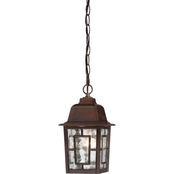 Steve Rustic Bronze 1-Light Outdoor Hanging Lantern