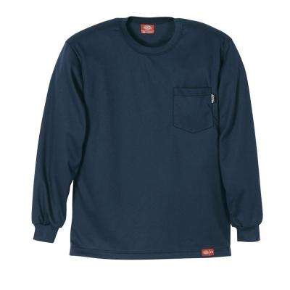 Men's Large Navy Flame Resistant Long Sleeve T-shirt