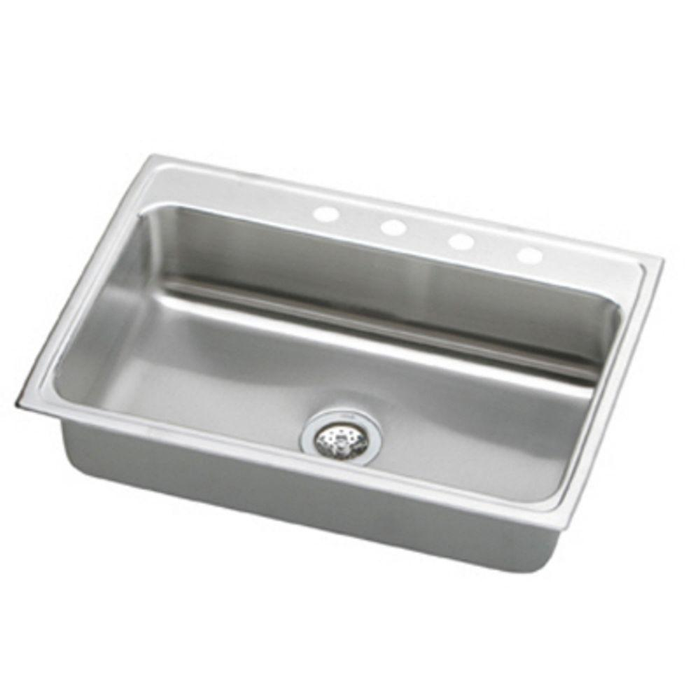 drop in stainless steel kitchen sinks elkay lustertone drop in stainless steel 33 in 4 9626