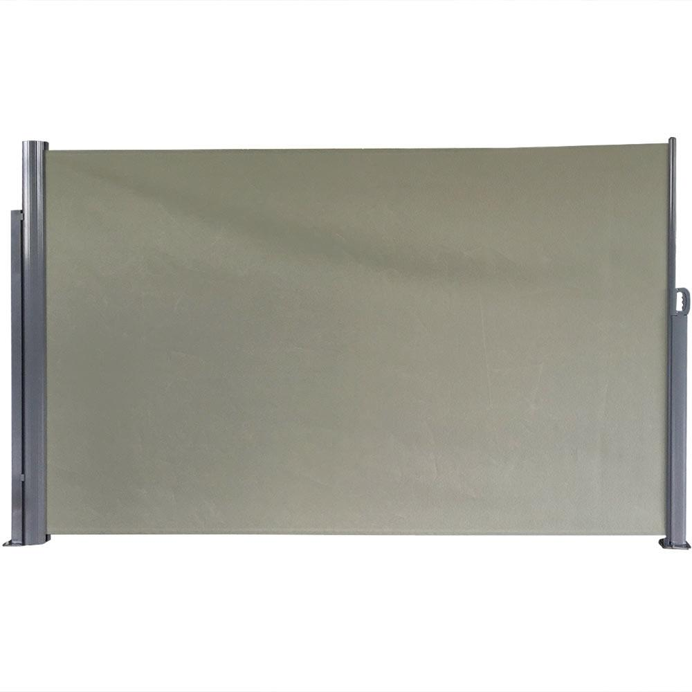 Sunnydaze Decor 10 ft. x 6 ft. Retractable Patio Privacy Awning Divider
