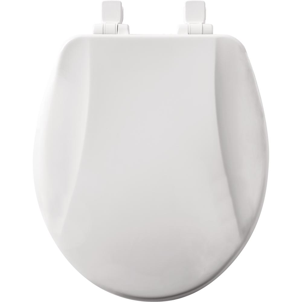 Toilet Seat Slow Close Lift Off Round Closed Front White