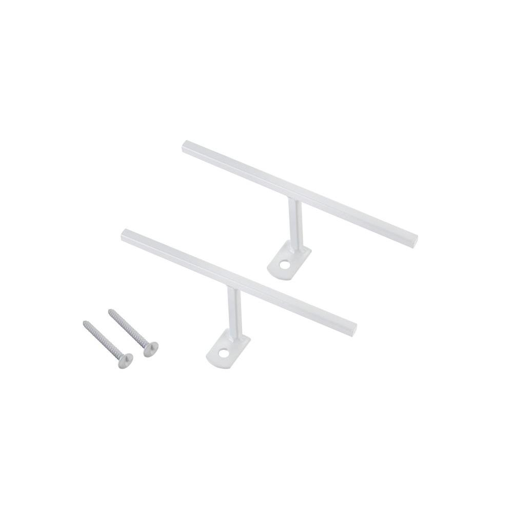 Window Bar T-Bracket Connectors, White (2-Pack)