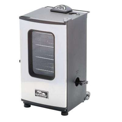 30 in. Digital Electric Smoker with Window and Remote Control