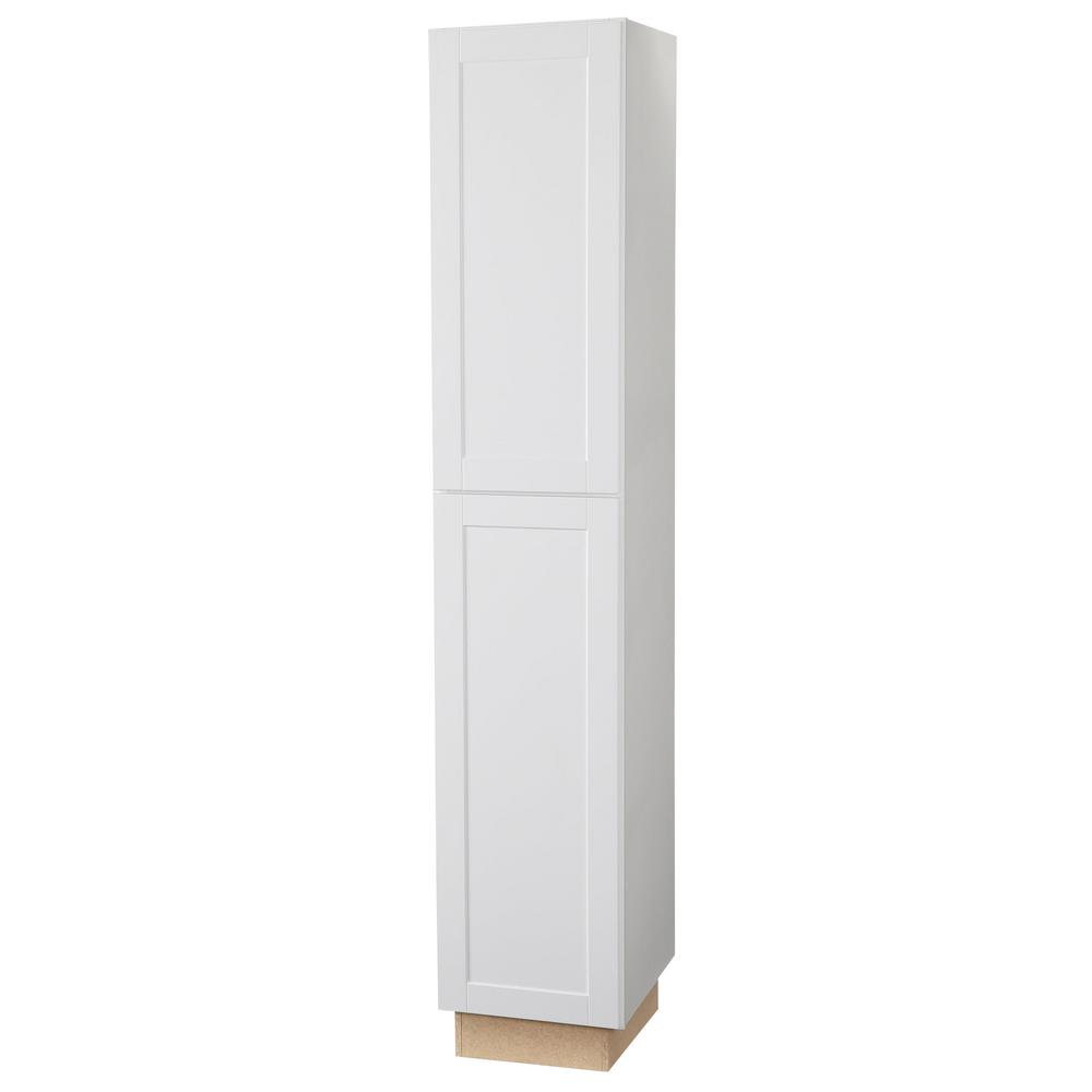 Hampton Bay Shaker Assembled 18x96x24 in. Pantry Kitchen ...