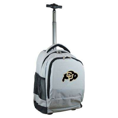 NCAA Colorado 19 in. Gray Wheeled Premium Backpack