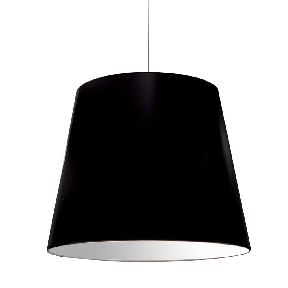 Dainolite Oversized Drum 1 Light Black Pendant With Laminated Fabric Shade Od L 797 The Home Depot