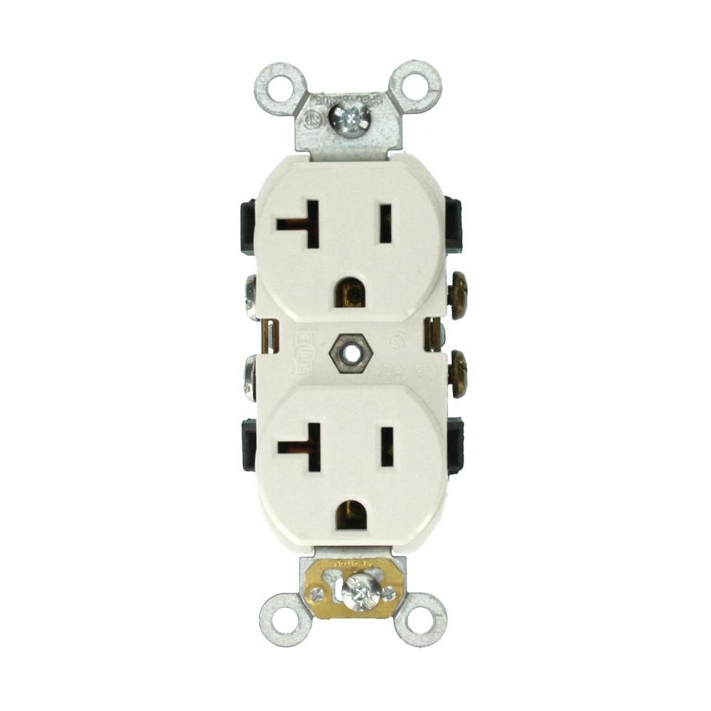 Leviton 20 Amp Self Test Smartlockpro Slim Duplex Gfci Outlet White L520 Wire Diagram R12 Gfnt2 0rw The Home Depot