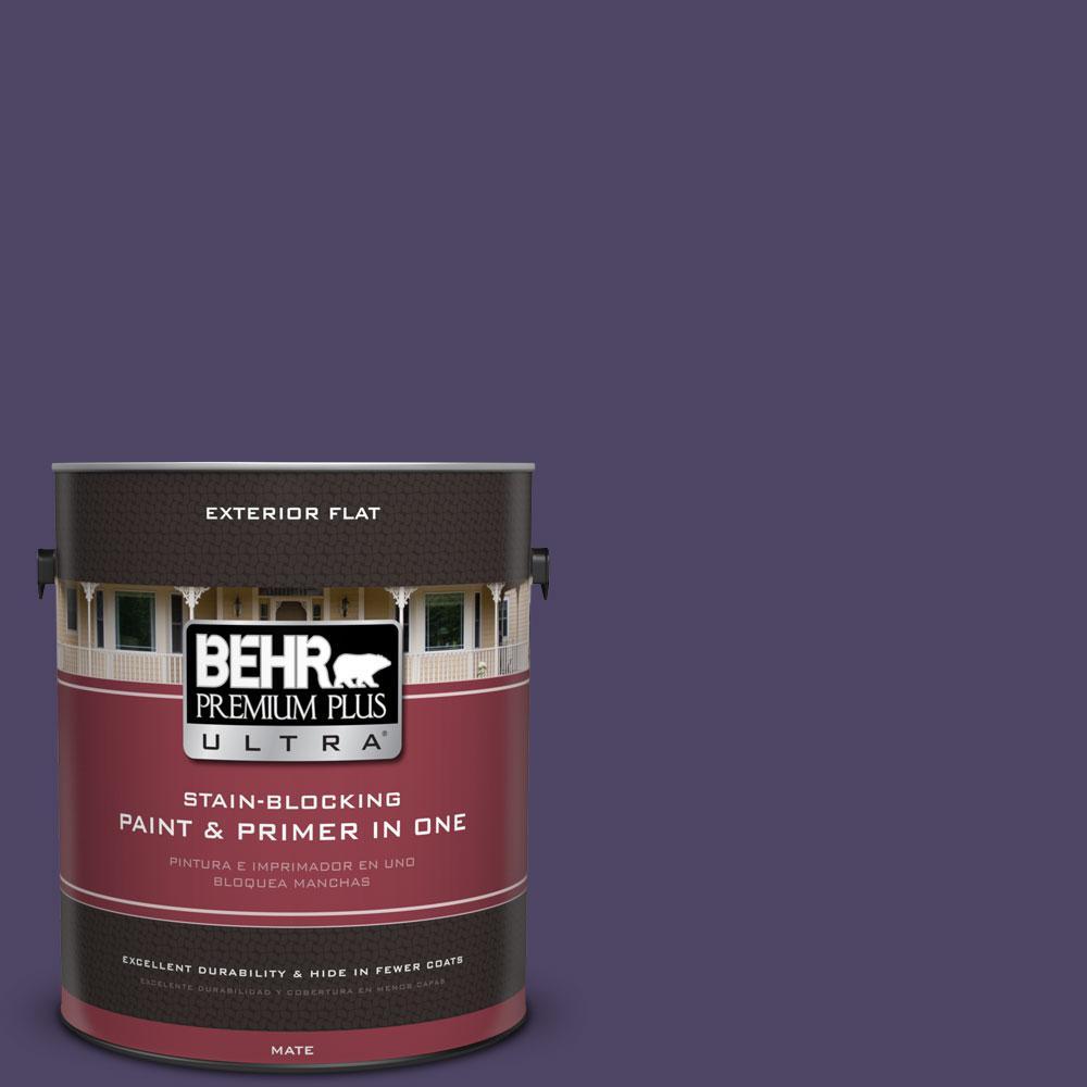 BEHR Premium Plus Ultra 1-gal. #S-H-650 Berry Charm Flat Exterior Paint