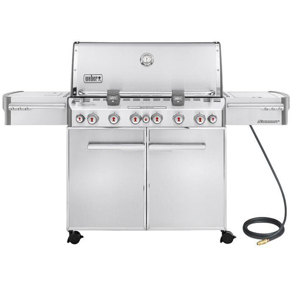 Weber Summit S 670 6 Burner Natural Gas Grill In Stainless Steel