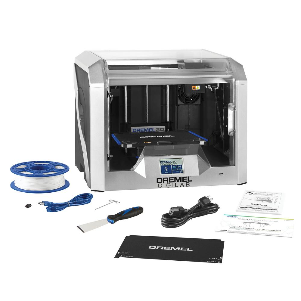 Dremel DigiLab 3D40 Intermediate Idea Builder 3D Printer with Built-In  Wi-Fi, Guided Leveling and FLEX Build Plate