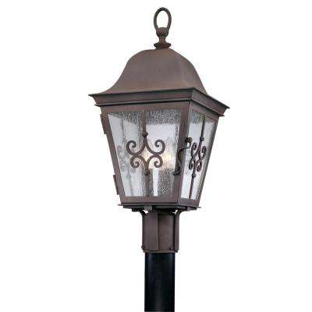 Markham 3-Light Outdoor Weathered Bronze Post Light