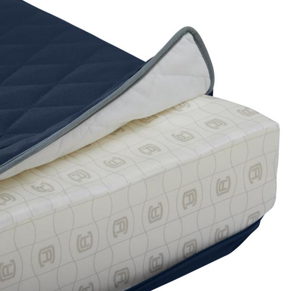 W x 18 in Outdoor Bench Cushion 42 in Quilted Adjustable Belted Hem D x 3 in