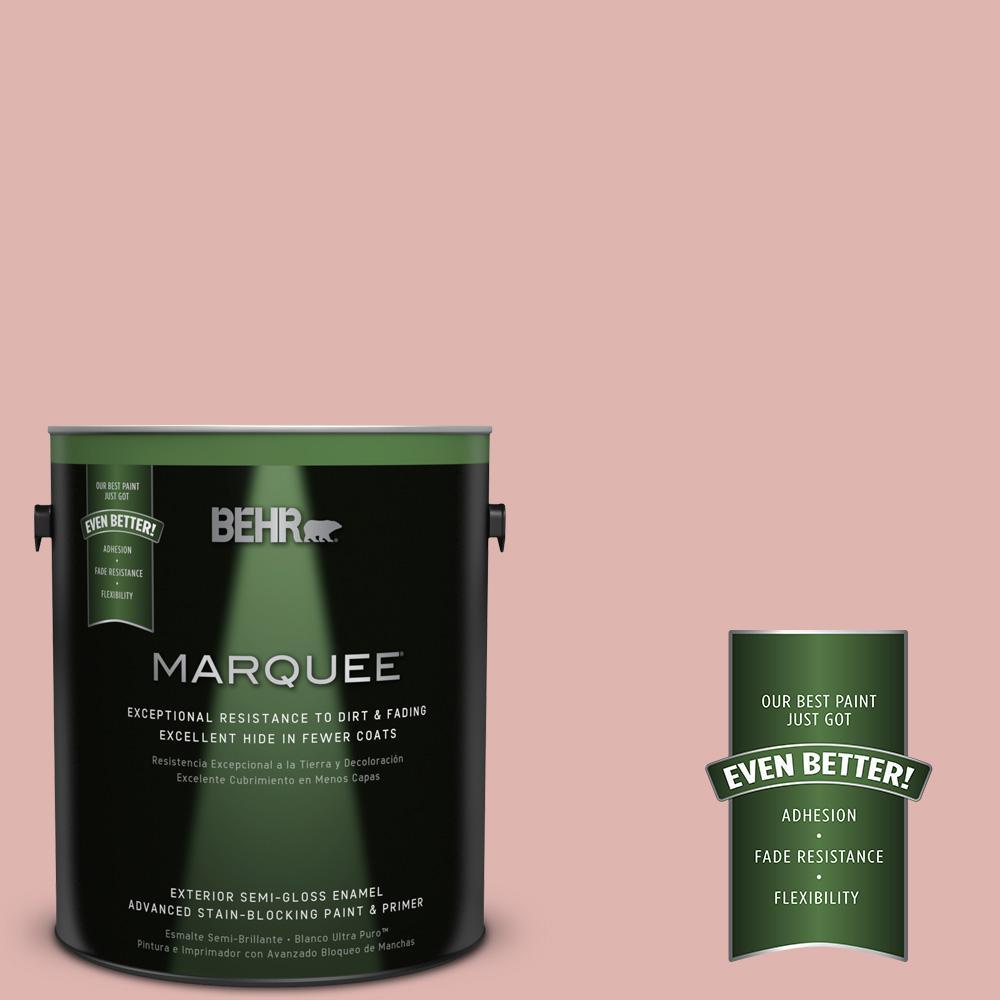BEHR MARQUEE 1-gal. #S160-2 Pink Quartz Semi-Gloss Enamel Exterior Paint