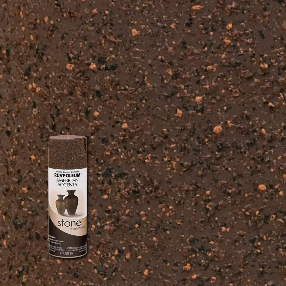 Rust Oleum American Accents 12 Oz Stone Creations Mineral Brown Textured Finish Spray Paint 238324 The Home Depot