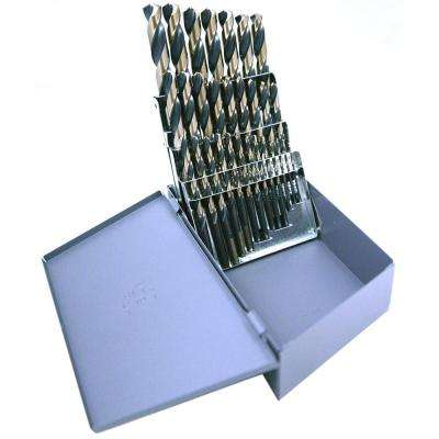 1879 High Speed Steel Black and Gold Heavy-Duty with 3/8 in. Shank 1/16 in. - 1/2 in. x 64 Bit Set (29-Piece)