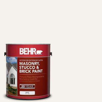 1 gal. #W-F-400 Swan Wing Satin Interior/Exterior Masonry, Stucco and Brick Paint