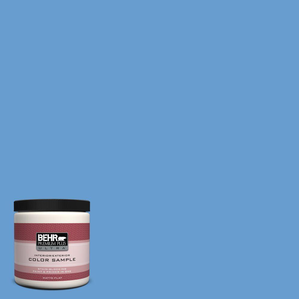 BEHR Premium Plus Ultra 8 oz. #570B-5 Gulf Stream Interior/Exterior Paint Sample