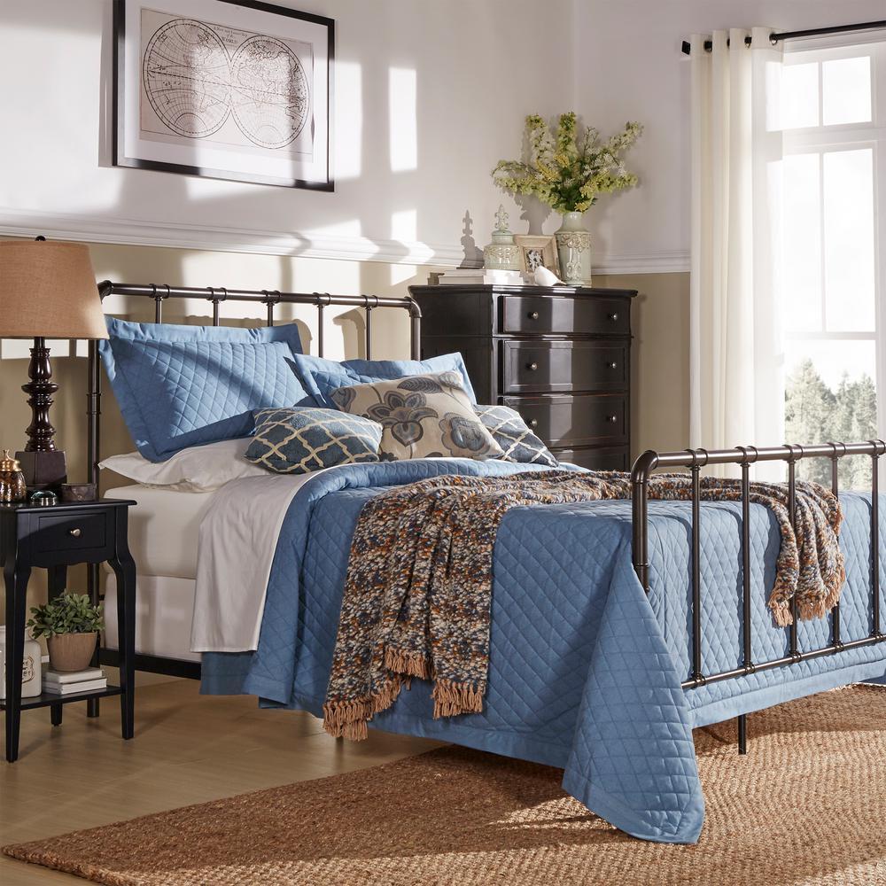 Byer Bronzed Black Queen Bed Frame