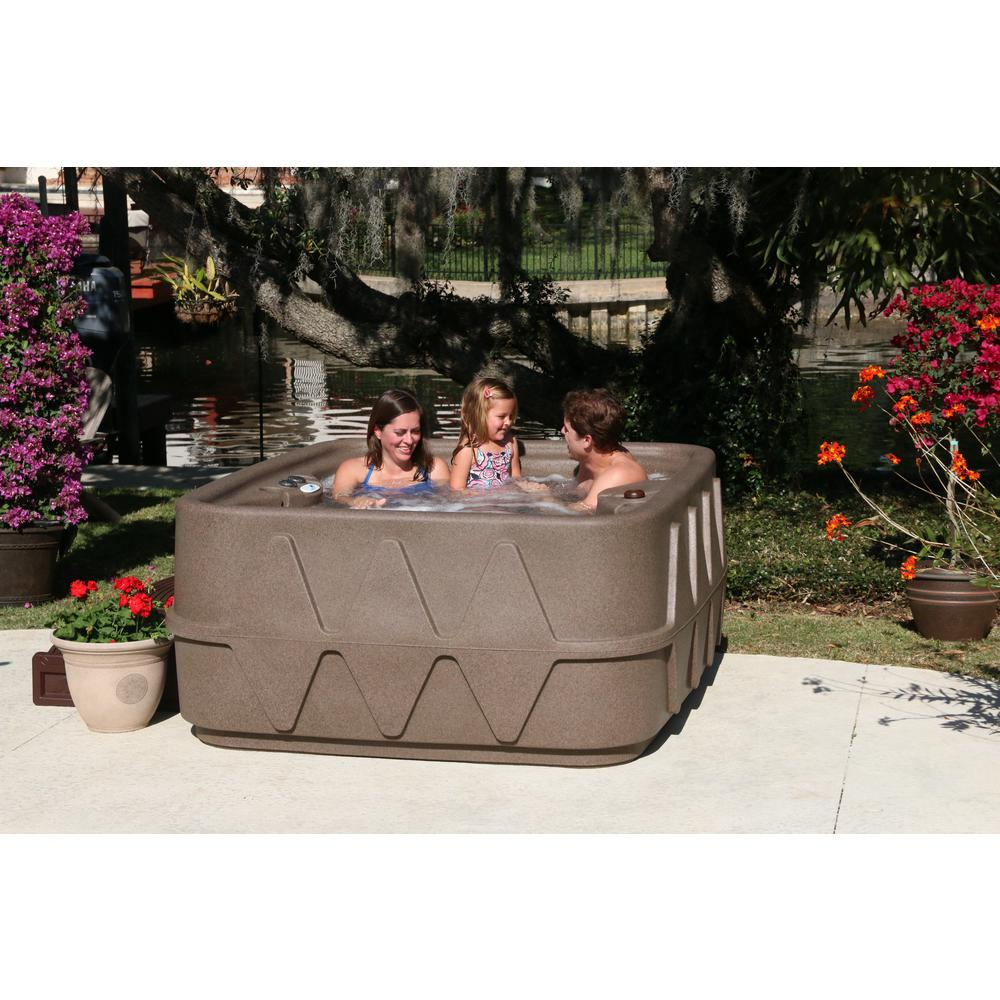 AquaRest Spas Select 400 4-Person Plug and Play Hot Tub w...