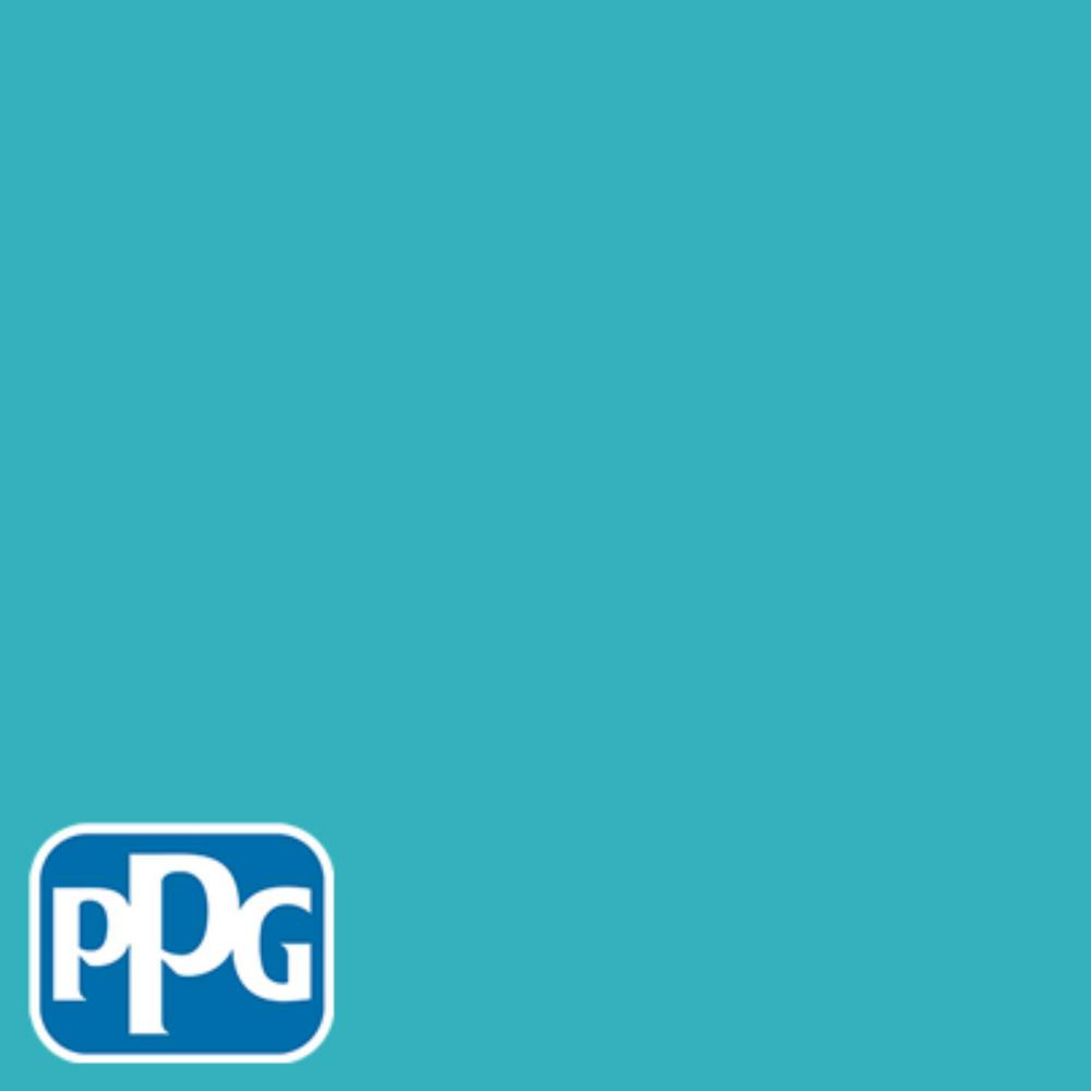 PPG TIMELESS 8 oz. #HDPPGB28 Pacific Coast Blue Flat Interior/Exterior Paint Sample