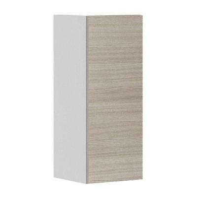 Ready to Assemble 12x30x12.5 in. Geneva Wall Cabinet in White Melamine and Door in Silver Pine