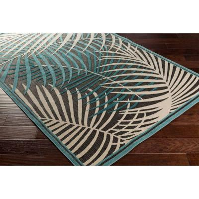 Guaral Teal 9 ft. x 12 ft. Indoor/Outdoor Area Rug