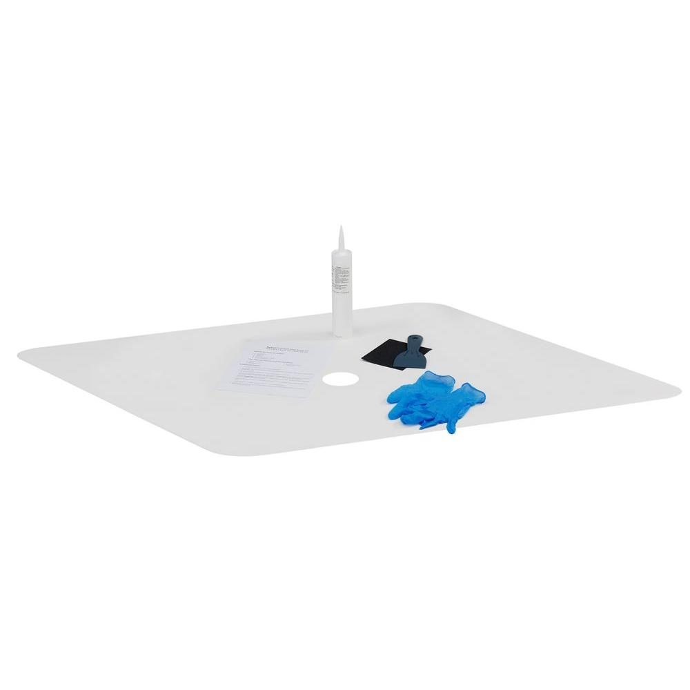 22 In W X 40 In L Shower Floor Repair Inlay Kit White Inlay Wt
