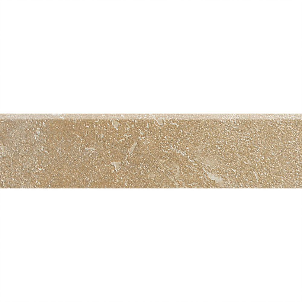 Daltile Sandalo Acacia Beige 3 in. x 12 in. Ceramic Bullnose Wall and Floor Tile (0.26 sq. ft. / piece)